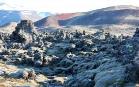 Lava fields a short drive from stykkisholmur